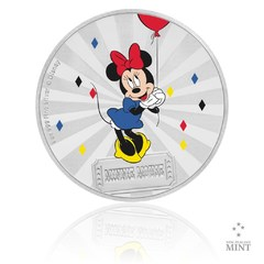 Stříbrná mince 1 Oz Karneval Mickeyho Mouse - Minnie proof